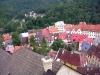 Pohled z hradní věže na obec Loket