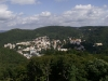 Pohled na Karlovy Vary z rozhledny Diana